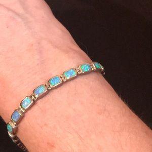 Jewelry - Silver Blue Fire Opal Bracelet